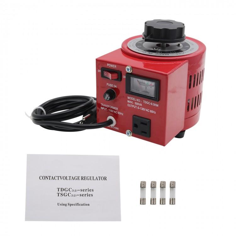 Variac Auto Transformer AC Variable Voltage Regulator Metered 1000W Single Phase