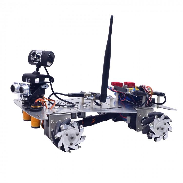 4WD WiFi Smart Robot Car Kit W/Camera 640*480 60mm Mecanum