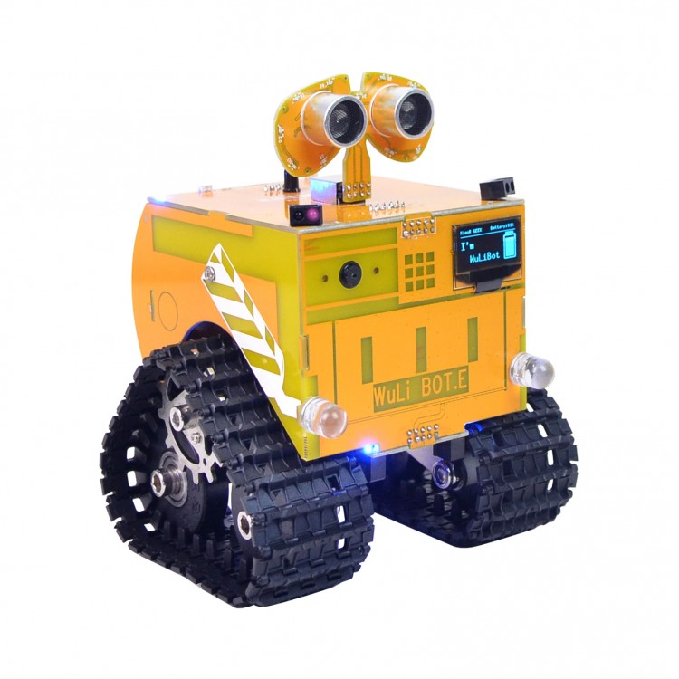 Programmable Robot Car Tracked Robot Smart Car Finished APP