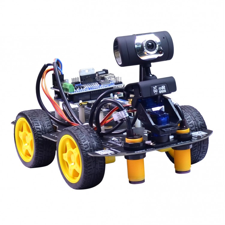Programmable Robot Car Kit Unfinished 2-DOF PTZ Tracking