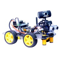 Programmable Robot Car Unfinished 2-DOF PTZ Tracking Line Obstacle Avoidance [WiFi+Bluetooth Version]