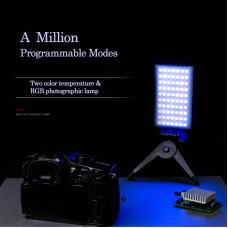 2400-10000K Programmable RGB Studio Light Dimmable Camera Studio Light Dual Color Temperatures