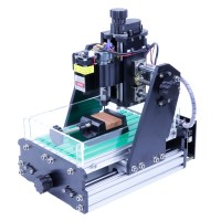 45W Desktop CNC Engraver Mini Laser Engraver Unfinished Working Area 15x10x6cm 1015 Standard Version