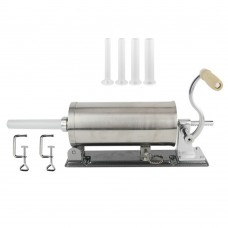 6LBS Sausage Stuffer Homemade Stainless Steel Sausage Maker + 4 Stuffer Tubes + 2 Clamps MF-2006P