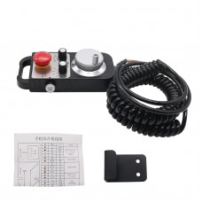 6-Axis CNC Pendant Handwheel 5V 100PPR with Emergency Stop Switch Manual Pulse Generator MPG