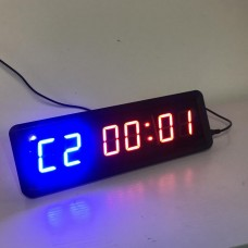"""6-Digit Dimmable Programmable Interval Timer Wall Crossfit Gym Timer with Remote 1.5"""" LED"""