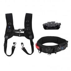 PKT38 Camera Waist Belt Strap + Camera Double Shoulder Strap + Camera Clip for DSLR SLR