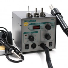 2 In 1 Hot Air Rework Station 580W Hot Air Soldering Station Digital Display + 3 Nozzles QUICK 706W+