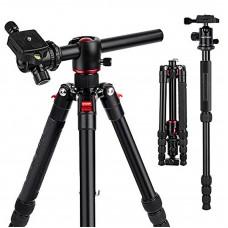 TM2515T DSLR Camera Tripod Professional Horizontal Aluminum Tripod for Canon Nikon DSLR Camera