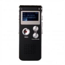 Mini Voice Recorder Digital USB Voice Recorder 8GB Dictaphone MP3 Player Black 609