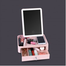 37 LED Touch Screen Makeup Mirror Dimmable Night Light Rotatable Table Top Vanity Mirror