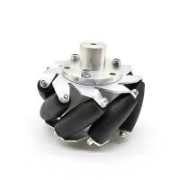"1pc 100mm/4"" Mecanum Wheel Aluminum Alloy Omini Wheel w/ Coupling for 5mm Hub Robot Car"