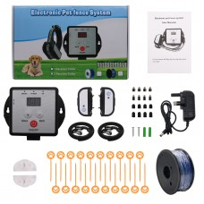 X-881B Underground Electric Dog Fence System Dog Training Shock Collar Waterproof for 2 Dogs