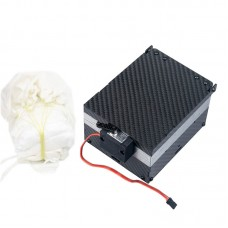 1.6M UAV Parachute + Parachute Opener Ejector Box Carbon Fiber for 1-4kg RC UAV Airplane