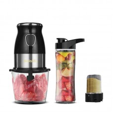 3-In-1 600ml Blender Mixer 25000rpm 900ml Electric Food Chopper 100ml Electric Coffee Grinder 500W