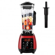 2L BPA Free Blender Mixer Juicer Food Processor 2200W 45000RPM Digital Touch Screen LED D6300 Red