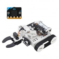 4-In-1 Qtruck Programmable Robot Kit Unfinished Support APP Handlebit Control (w/ Microbit Motherboard)