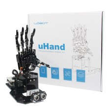 uHandbit Open Source Robotic Hand Unfinished 180° Swivel Base APP Control w/o Micro: bit Main Board