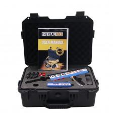 The Real AKS Gold Long Range Gold Detector 6 Antennas Plastic Case for Gold Silver Gem Diamond Blue