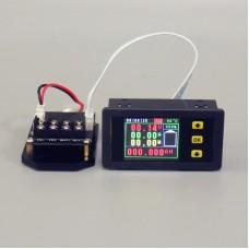 """VA75010S Multimeter Ammeter Voltmeter 0-120A 0-10A 1.8"""" Color LCD Imported Current Sampling Resistor"""