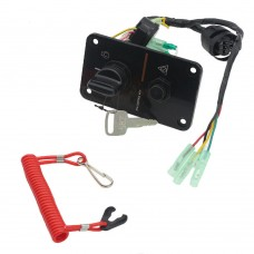 Outboard Single Engine Key Switch Panel for Yamaha Outboard Ignition Switch Assembly 704-82570-12-00