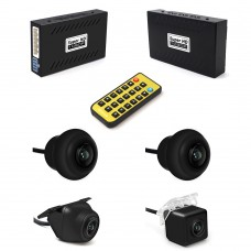 360 Degree Panoramic Driving Recorder 1080P HD 180° Wide Angle Cameras System DV360B