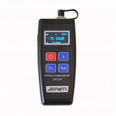 JW3234 Fiber Optical Power Meter Tester Fiber Optic Power Meter OLED Screen 6 Calibrated Wavelengths