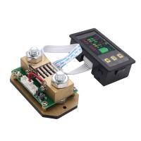 0-120V 0-500A DC Digital Volmeter Ammeter Multimeter Voltage Ampere Power Watt Coulomb Capacity Time Temp