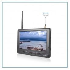 7'' FPV Monitor 1024x600 HDMI Wireless Monitor Dual 5.8 G 32CH Diversity Receivers FPV718B Super Slim
