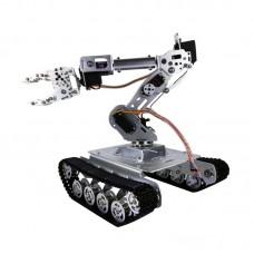 Shock Absorber RC Tank Car with WiFi 12V Motor 7-DOF Robot Arm Gripper Smart RC Robot Kit TS100