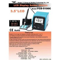 """YCD-5100C Lead Free Soldering Station 3.5"""" LCD Display Switchable 200-480℃ & 392-896℉"""