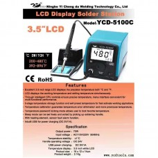 "YCD-5100C Lead Free Soldering Station 3.5"" LCD Display Switchable 200-480℃ & 392-896℉"