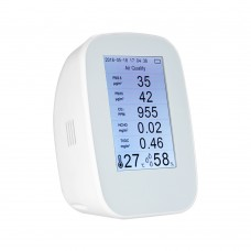 "D9 Series Air Quality Monitor PM2.5 TVOC HCHO CO2 Temperature Humidity w/ 3.5"" TFT Color Display"