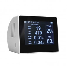 K6 Series Air Quality Monitor PM2.5+TOVC+HCHO+CO2 Detector w/3.5 Inch TFT Color Display