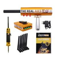 The Real AKS Long Range Gold Detector 6 Antennas Plastic Case for Silver Gem Diamond Golden + Filter