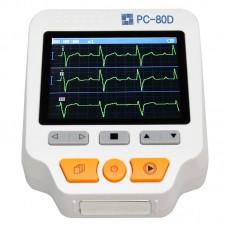 "Easy ECG PC-80D Portable ECG Monitor Machine Three Channels w/ 3.5"" TFT Color LCD Display"