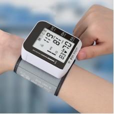 "JZ-251A Wrist Electronic Blood Pressure Monitor Heart Rate Pulse w/ Speech Broadcast 2.8"" Screen"