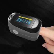 JZ-135S Digital Fingertip Pulse Oximeter Portable SPO2 PR PI 8-Hour Sleep Monitoring w/ OLED Screen