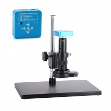 34MP Industrial Microscope Camera HDMI 180X 144LEDs 2K/1080P for HDMI Output 1080P for USB Output