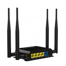 2.4GHz 300Mbps Wirelesss Wifi Router with 4LAN Ports Support 3G 4G For EU North America US Canada