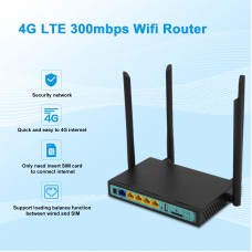 2.4GHz 300Mbps Wireless Wifi Router Up to 30 Users 4 LAN Ports Support 3G 4G For Asia