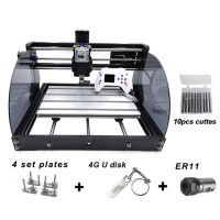 """3018Pro Max 3 Axis Mini Laser Engraver Standard +500mW Laser +Offline Control 1.8"""" Screen Unfinished"""