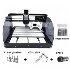 "3018Pro Max 3 Axis Mini Laser Engraver Standard +5500mW Laser +Offline Control 1.8"" Screen Unfinished"