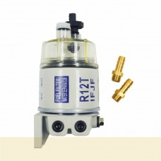 R12T Spin-On Diesel Fuel Filter Water Separator Complete Kit for Generator Trucks Construction Industrial Uses