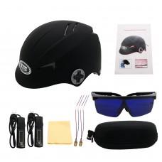 Laser Hair Cap 128 Diodes Laser Hair Growth Helmet Black + Glasses + Black Timer G128 Standard Type