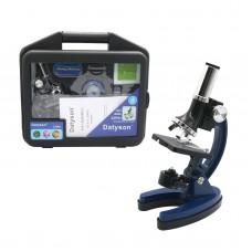 Datyson 100X 600X 1200X Children Microscope Metal Monocular Microscope for Kids w/Carry Box