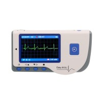 """Easy ECG PC-80B Portable ECG Monitor Machine Heart Rate 2.8"""" Color LCD Continuous Measurement Version"""