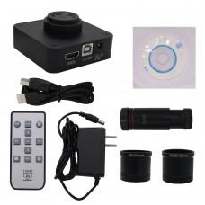 HY-1138 21MP Industrial Microscope Camera 0.5X C-mount Lens 4K Video Record 1080P HDMI & USB Output