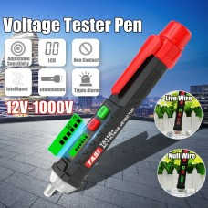 TA11B+ Non-Contact AC Voltage Detector 12-1000V Adjustable Sensitivity with Flashlight for L/N Wire