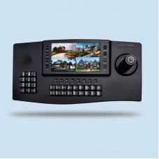 "MY-C400 4D PTZ Joystick Controller PTZ Keyboard Controller CCTV 4CH w/ 7"" TFT LCD for IP PTZ Camera"